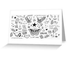 Harry Styles Tattoos Greeting Card
