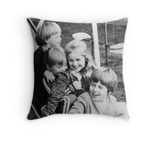 The Four of Us Throw Pillow