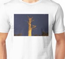 Shaved Tree and Star Trails Unisex T-Shirt