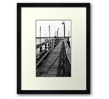 Reeling in the Big One Framed Print