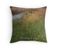 Thinking of you    THE CARD Throw Pillow