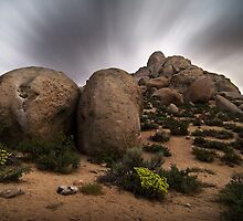 Buttermilk Boulders by Moonlight by Nolan Nitschke