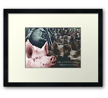 Why we could clone a million pigs from just one can of Spam! Framed Print