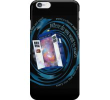 All of time and space; everywhere and anywhere; every star that ever was. Where do you want to start? - doctor who - tardis iPhone Case/Skin