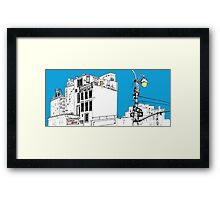 A Blue Day In New York Framed Print