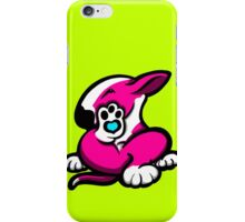 English Bull Terrier Kicking Back Pink and White iPhone Case/Skin