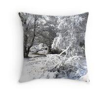 Cannock Chase Snow Throw Pillow