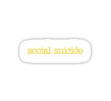 Mean Girls - Social Suicide Sticker