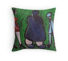 The naughty husband Throw Pillow