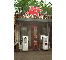 Route 66 Vintage Pumps Photographic Print