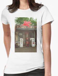 Route 66 Vintage Pumps Womens Fitted T-Shirt
