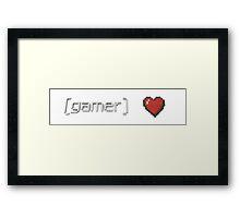 Gamer Heart Framed Print