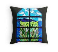 Front Window of Drouin Anglican Christ Church, Gippsland Australia Throw Pillow