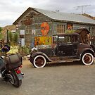 Route 66 Vintage Auto and Shed by Frank Romeo