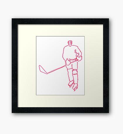 Pink Ice Hockey Framed Print