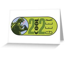 The OFFICIAL 2 COOL 2 GEEK Logo Greeting Card