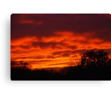 Wednesday - Sunset Canvas Print
