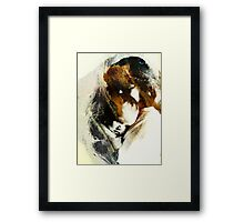 A Mothers Touch Framed Print
