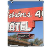 Route 66 - Fabulous 40 Motel iPad Case/Skin