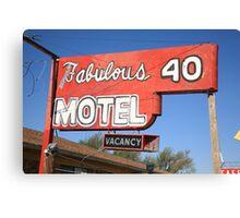 Route 66 - Fabulous 40 Motel Canvas Print