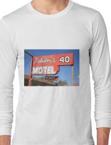 Route 66 - Fabulous 40 Motel Long Sleeve T-Shirt