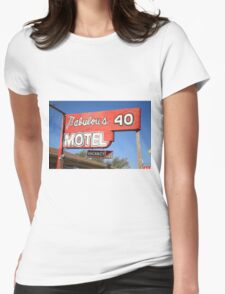 Route 66 - Fabulous 40 Motel Womens Fitted T-Shirt