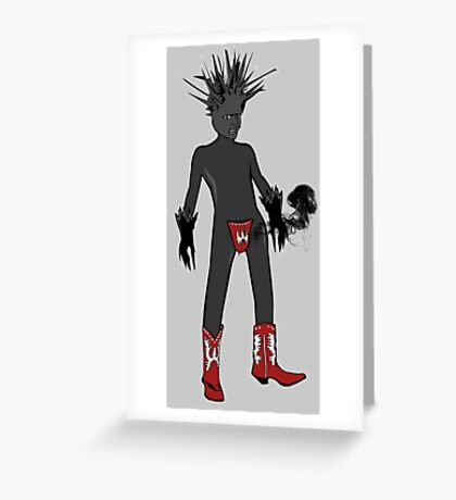 Black Frost Greeting Card
