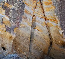 Rock Colours - Redhead Beach NSW by Bev Woodman