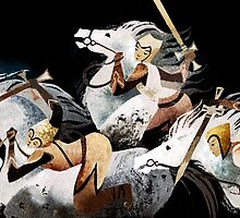 Three warriors by Pauliina Hannuniemi