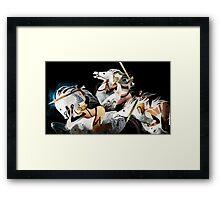 Three warriors Framed Print