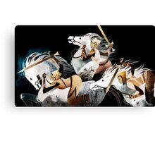 Three warriors Canvas Print