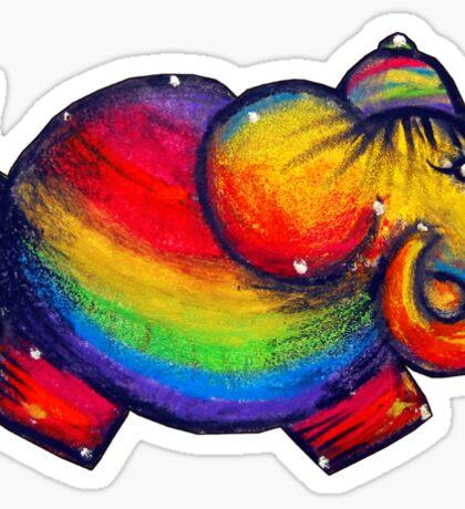 Rainbow Elephant Tshirt Sticker