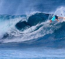 Kelly Slater At Billabong Pipe Masters In Memory of Andy Irons 2011 by Alex Preiss
