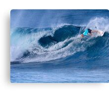 Kelly Slater At Billabong Pipe Masters In Memory of Andy Irons 2011 Canvas Print