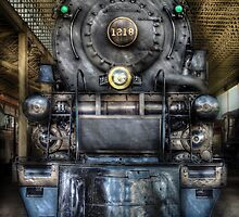 Norfolk Western, Class A - 1218 - Front View by Mike  Savad