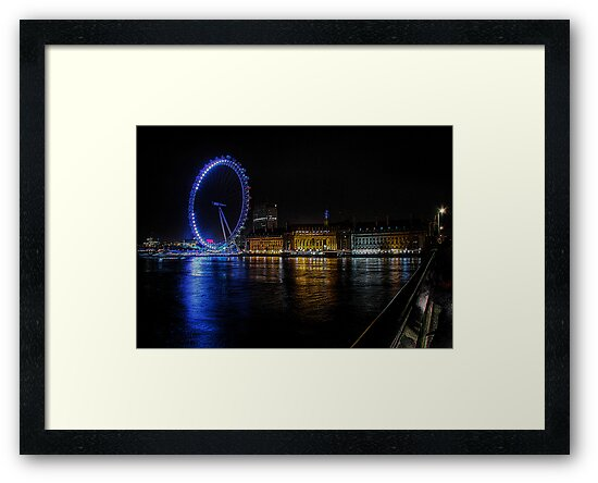 The London Eye on the South Bank by A90Six