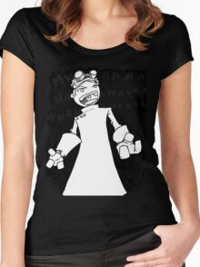 Doctor Horrible - Transparent Evil Laugh Women's Fitted Scoop T-Shirt