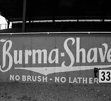 Baseball Field - Burma Shave by Frank Romeo