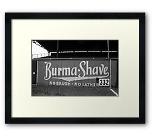 Baseball Field - Burma Shave Framed Print