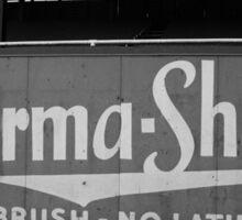 Baseball Field - Burma Shave Sticker