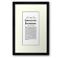 Lorenzo Von Matterhorn - White Framed Print