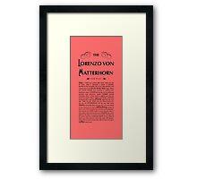 Lorenzo Von Matterhorn - Red Framed Print