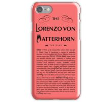 Lorenzo Von Matterhorn - Red iPhone Case/Skin