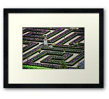 Formal Garden - Chateau Villandry, Loire Valley 2 Framed Print