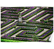 Formal Garden - Chateau Villandry, Loire Valley 2 Poster