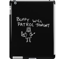Patrolling Without a Voice iPad Case/Skin