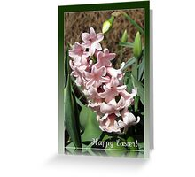 Easter Card with Pretty-in-Pink Hyacinth Greeting Card