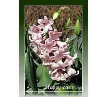 Easter Card with Pretty-in-Pink Hyacinth Photographic Print