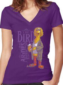The Big Birdowski Parody Women's Fitted V-Neck T-Shirt