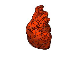 geometric heart of courage by bluedesda